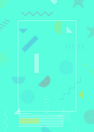 Background with minimal design. Abstract geometric backdrop for Banners, Book covers, Posters, Flyers.  イラスト・ベクター素材