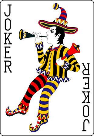 playing card joker 62x90 mm Vector