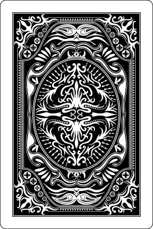 jeu de cartes: carte � jouer arri�re c�t� 60 x 90 mm