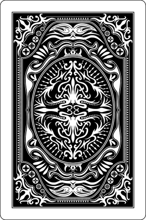 card game: playing card back side 60x90 mm
