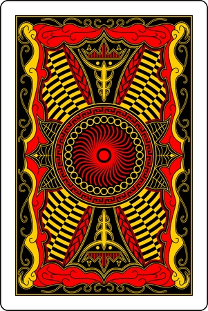 playing card back side 60x90 mm Vector