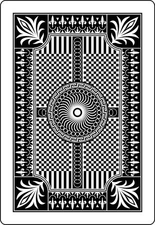 jeu de cartes: carte � jouer arri�re c�t� 62 x 90 mm Illustration