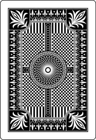 card game: playing card back side 62x90 mm Illustration