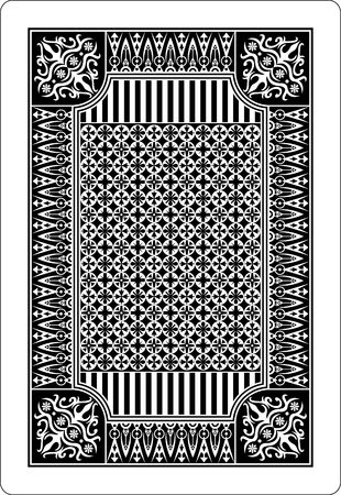 playing card back side 62x90 mm Illustration