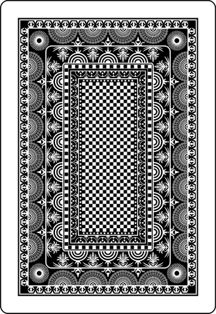 playing card back side 62x90 mm Stock Vector - 9317969