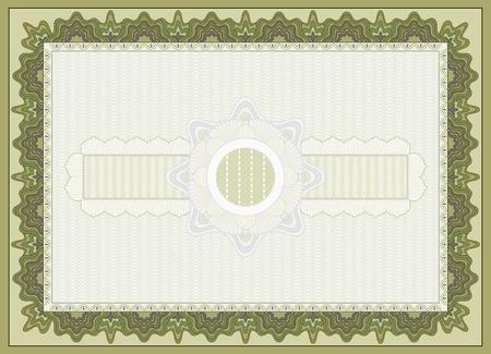 money background: certificate background Illustration