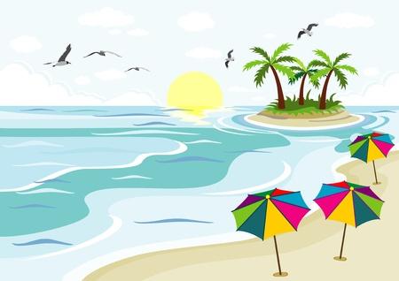 isles: beach sea and palm trees