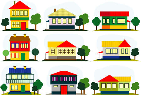 homes: houses icons