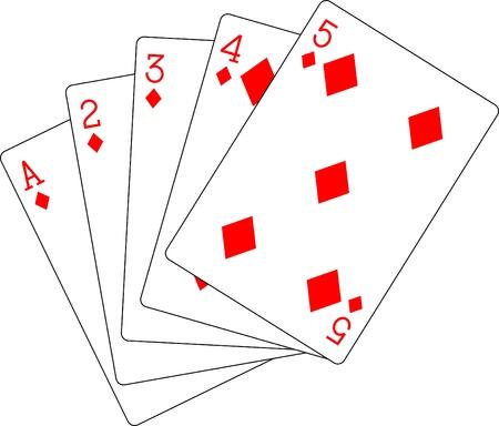 flush: flush diamonds ace to five