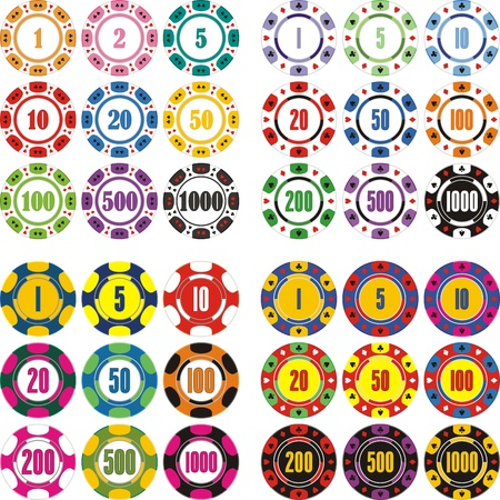 roulette game: casino chips