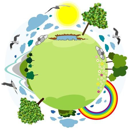 green planet sign Vector