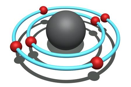 carbon atom Stock Photo - 9426265