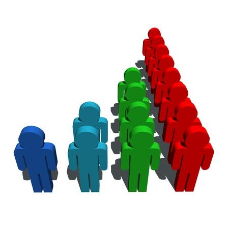 demografia: símbolo de población de Demografía