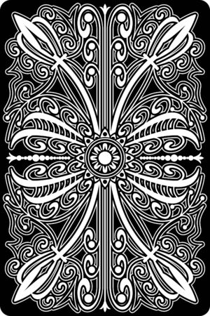 playing cards: playing card back side 60x90 mm