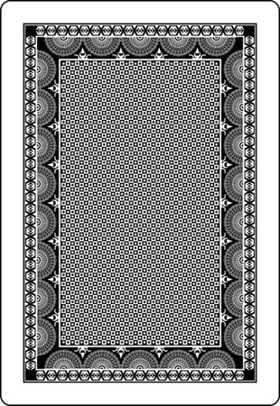 playing card back side 62x90 mm Stock Vector - 9545349