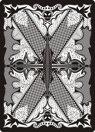 playing card back side 65x90 mm Vector