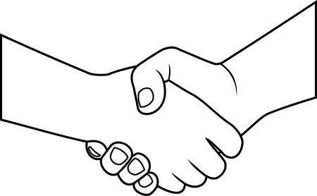 stretta di mano: simbolo della stretta di mano Vettoriali
