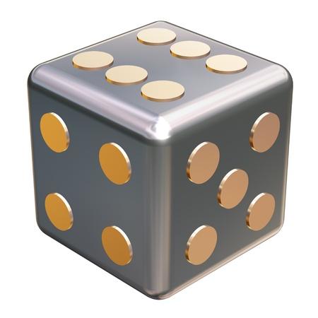 metallic dice