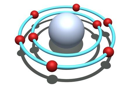átomo de oxígeno Foto de archivo - 9545313