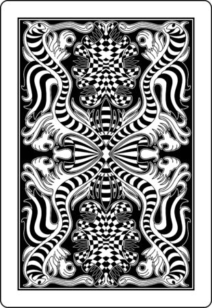 playing cards: playing card back side 62x90 mm Illustration
