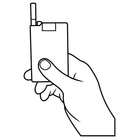 hand with cigarette box Vector