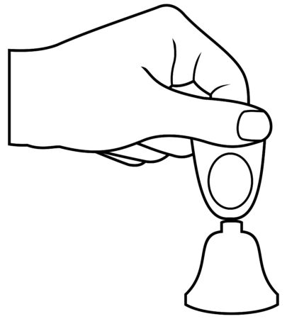tinkle: hand with small bell