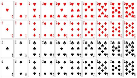 as de picas: ace de tarjetas a diez 62 x 90 mm  Vectores