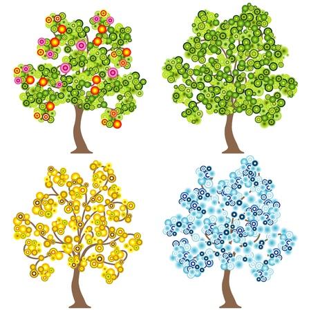 quatre saisons: arbre de quatre saisons