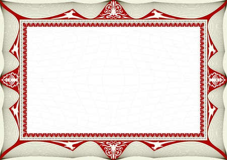 acknowledgement: certificate background Illustration
