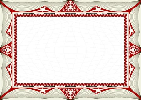 reconnaissance: fond certificat Illustration