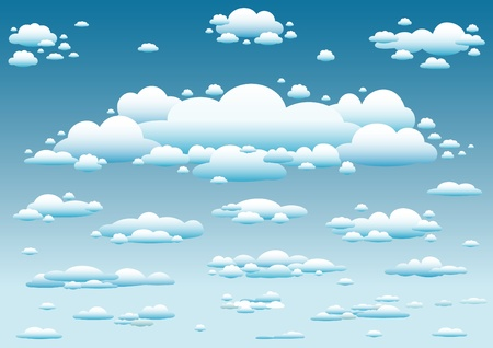 sky and clouds background Stock Vector - 9862049