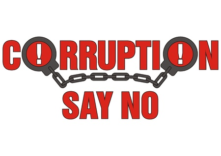 law office: corruption say no Illustration