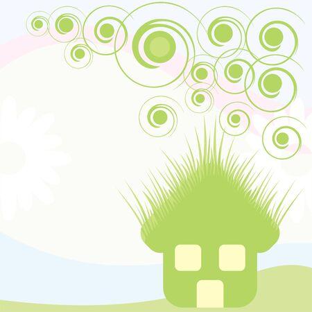 green house card Stock Vector - 9862120