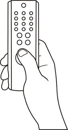hand with remote control icon