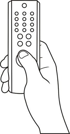 main avec l'icône de contrôle à distance