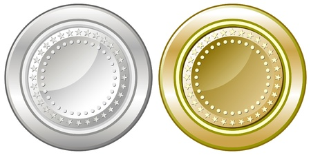 monedas de plata y oro