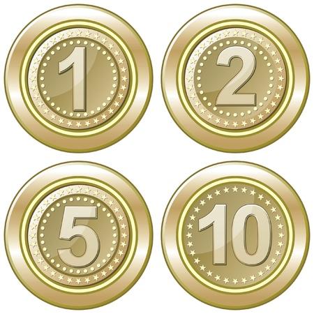 gold coins Illusztráció