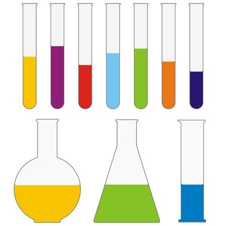 acido: tubos de ensayo Vectores