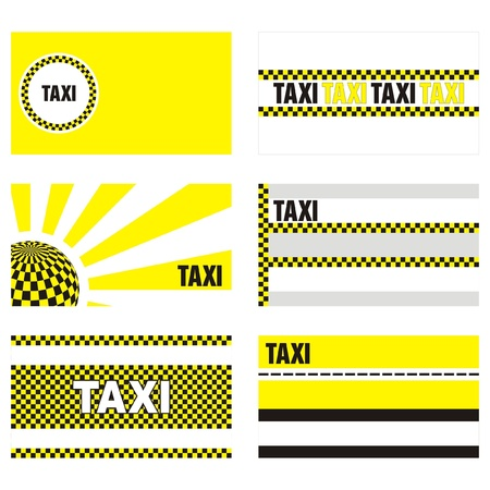 taxi business cards 90 x 50 mm Stock Vector - 9862111