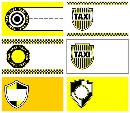 taxi business cards 90 x 50 mm Stock Vector - 9862104