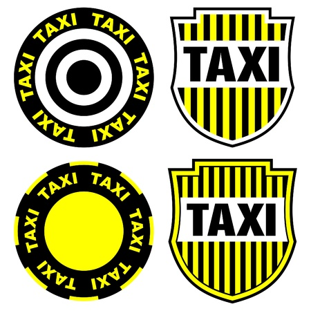 taxi signs and emblems Vector