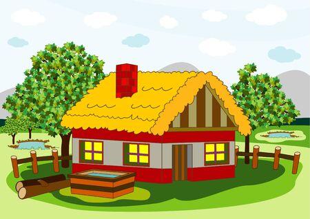 village house Stock Vector - 9862126