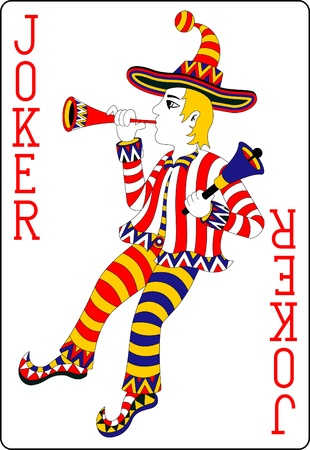 jouer carte joker 62x90 mm