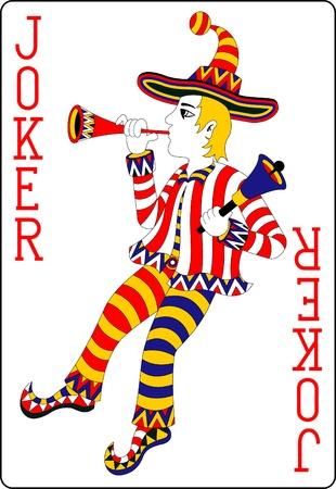 queen of clubs: playing card joker 62x90 mm