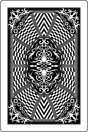 playing card back side 60x90 mm Stock Vector - 10443393