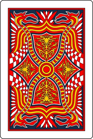 playing card back side 60x90 mm