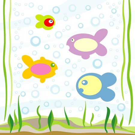 fishes Stock Vector - 10443395