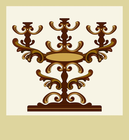 greeting card with candle holder Vector