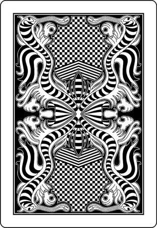 playing card: playing card back side 62x90 mm Illustration
