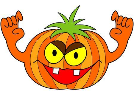 prank: Halloween pumpkin Illustration